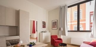 Rental property living room