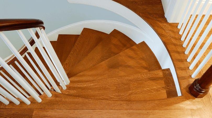 hardwood spiral staircase