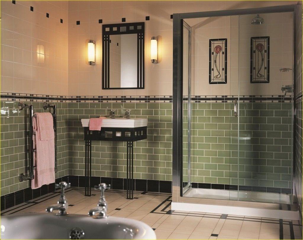 Bathroom With The Art Deco Theme, Art Deco Bathroom