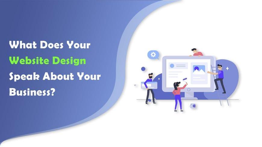 website design speak about your business logo