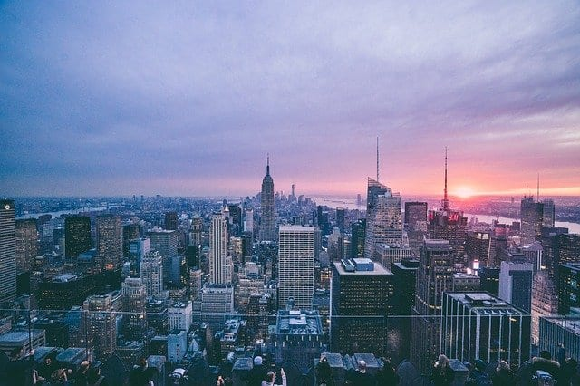 NYC cityscape, symbolizing choosing a New York City neighborhood when buying an apartment