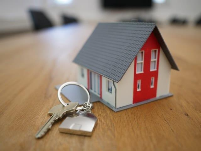 A house and keys