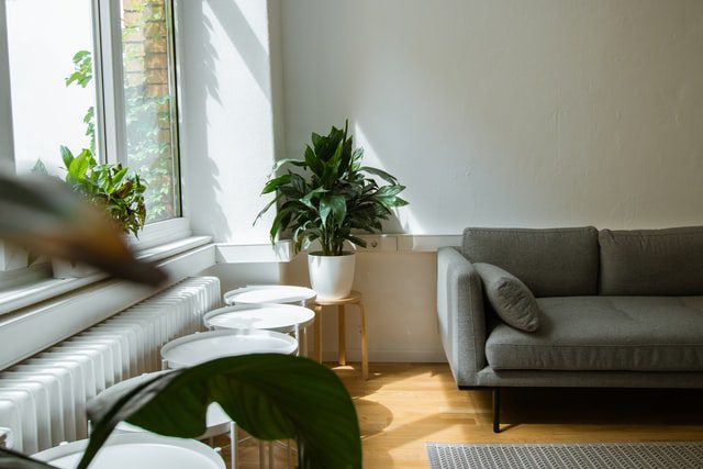A living room in an apartment.