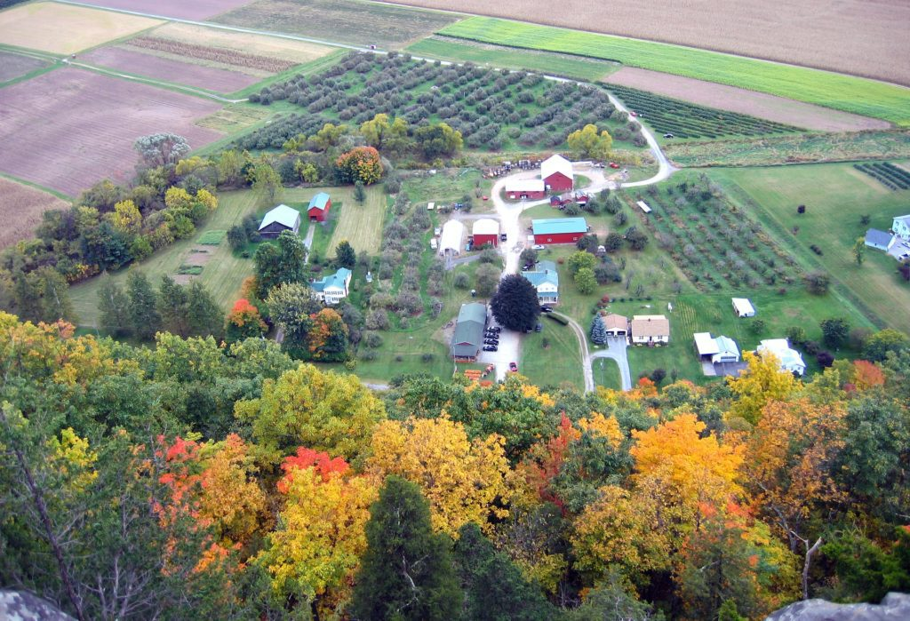 An aerial view of Middleburgh, Upstate NY.